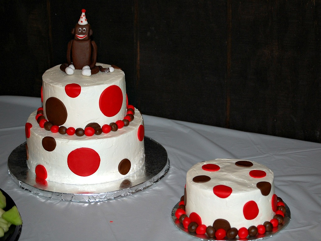Sock Monkey Birthday Party The Redhead Baker