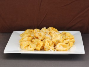 Cheese Tortellini with Pumpkin Alfredo Sauce | The Redhead Baker