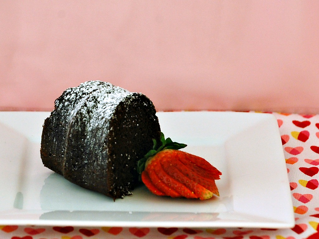 Lightened Chocolate Bundt Cake | www.theredheadbaker.com #lowfat