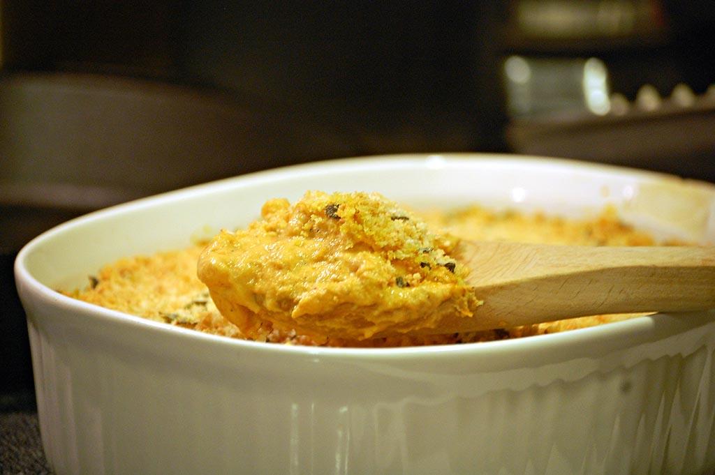 Pumpkin Mac and Cheese by The Redhead Baker
