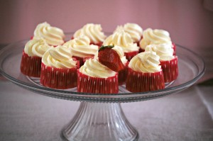 Strawberry Cupcakes with Champagne Buttercream | The Redhead Baker