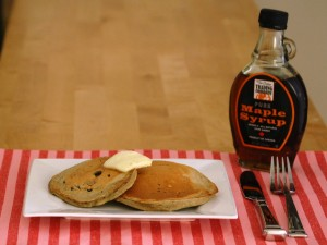 Whole Wheat Blueberry Pancakes by The Redhead Baker