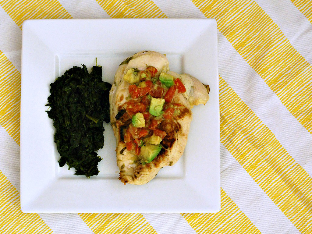 Cilantro-Lime Chicken with Avocado Salsa by The Redhead Baker