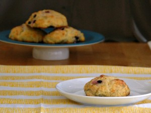 Meyer Lemon and Blueberry Scones