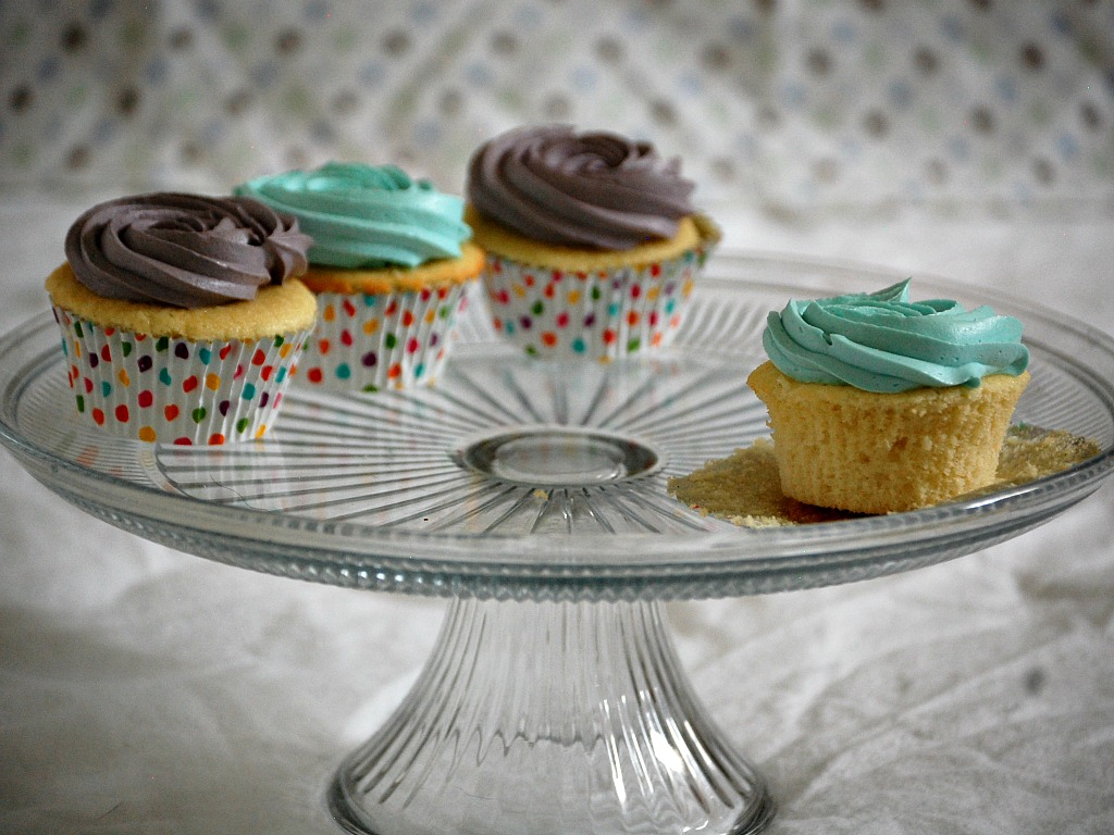 Vanilla Bean Cupcakes with Quick Vanilla Frosting