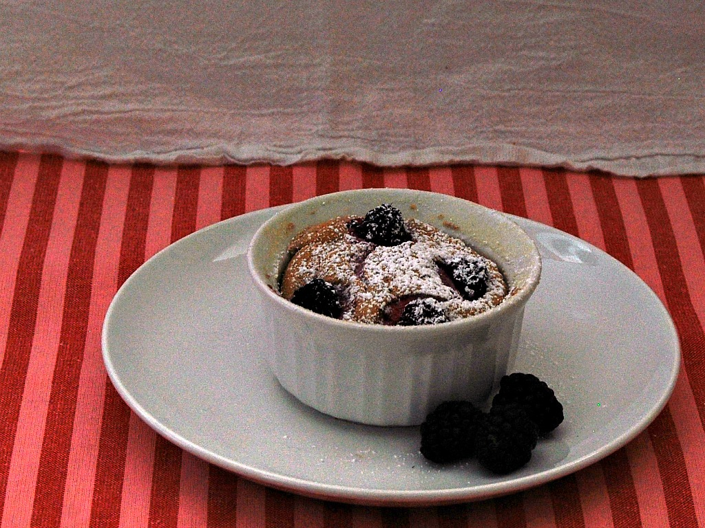 Flourless Blackberry Souffles