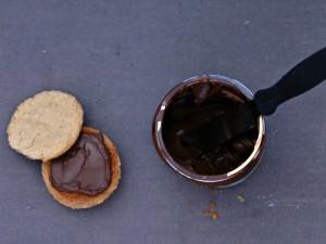 Peanut Butter Nutella Sandwich Cookies