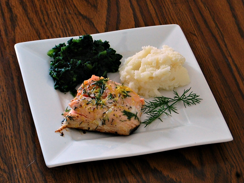 Roasted Lemon-Dill Salmon
