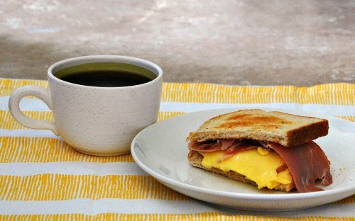 Egg, Brie, and Prosciutto Breakfast Sandwiches