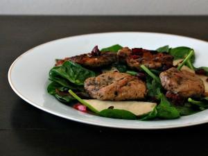 Pork Tenderloin, Pear, and Cranberry Salad