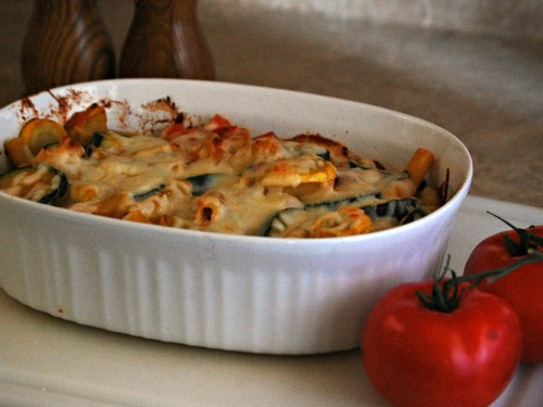 Baked Ziti and Summer Veggie Casserole