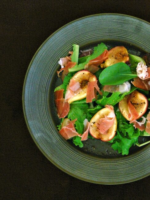 Roasted Fig, Prosciutto, and Goat Cheese Salad