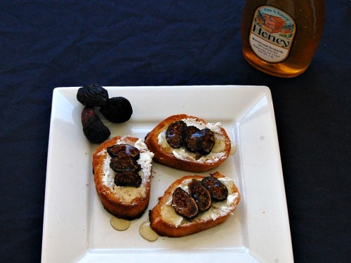 Fig and Goat Cheese Crostini