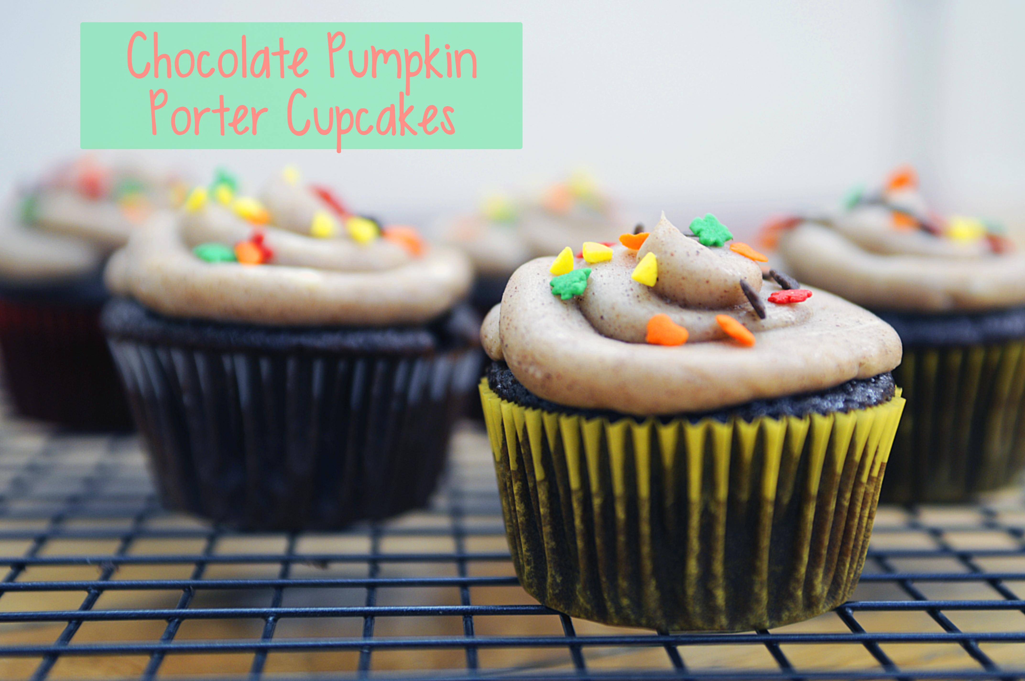 Chocolate Pumpkin Porter Cupcakes #AmericanBeerWeek