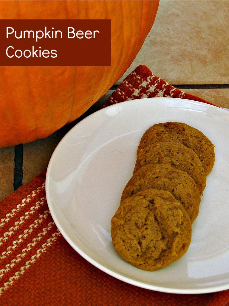 Pumpkin Beer Cookies #AmericanBeerWeek