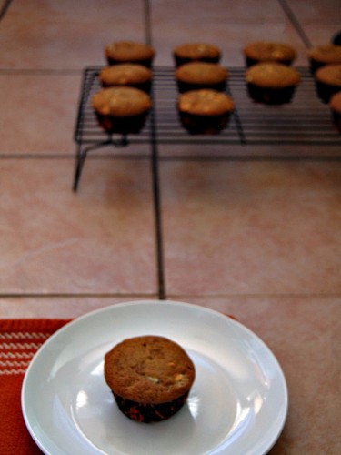 Pumpkin Cranberry White Chocolate Muffins #breakfast