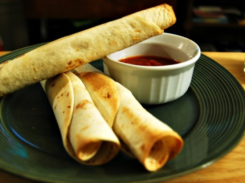 Creamy Corn and Pepper Taquitos #vegetarian