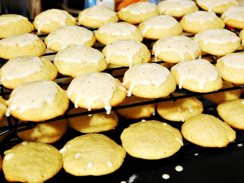 Iced Eggnog Cookies by The Redhead Baker