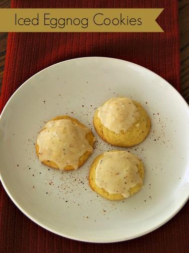 Iced Eggnog Cookies #Christmas