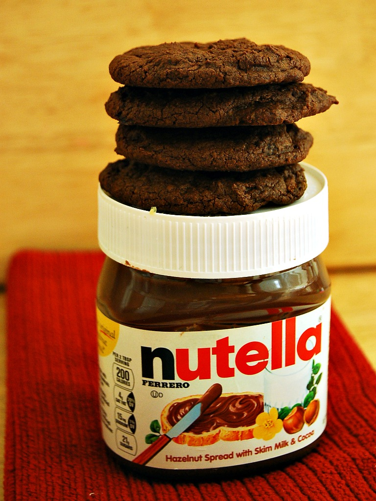 Nutella Chocolate Chip Cookies by The Redhead Baker