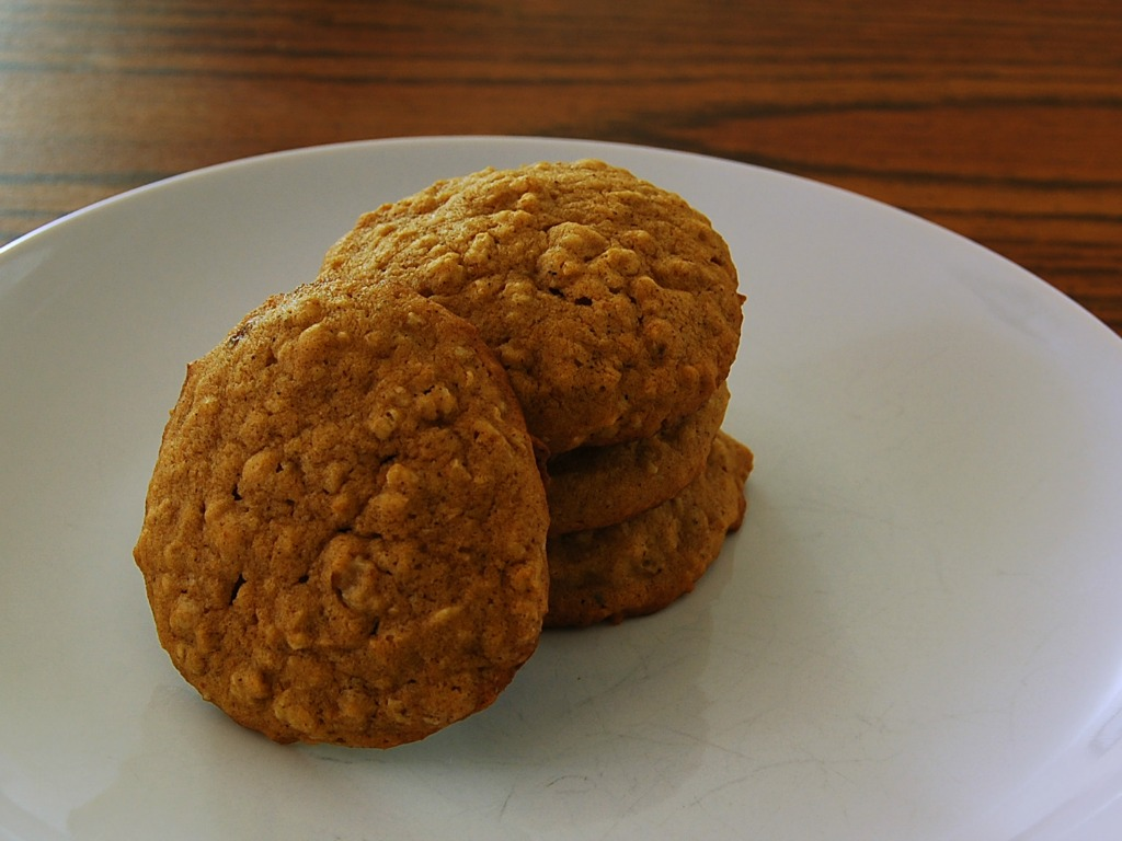 Spiced Pumpkin Oatmeal Cookies #12DaysofCookies - The Redhead Baker