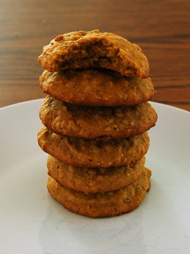 Spiced Pumpkin Oatmeal Cookies by The Redhead Baker