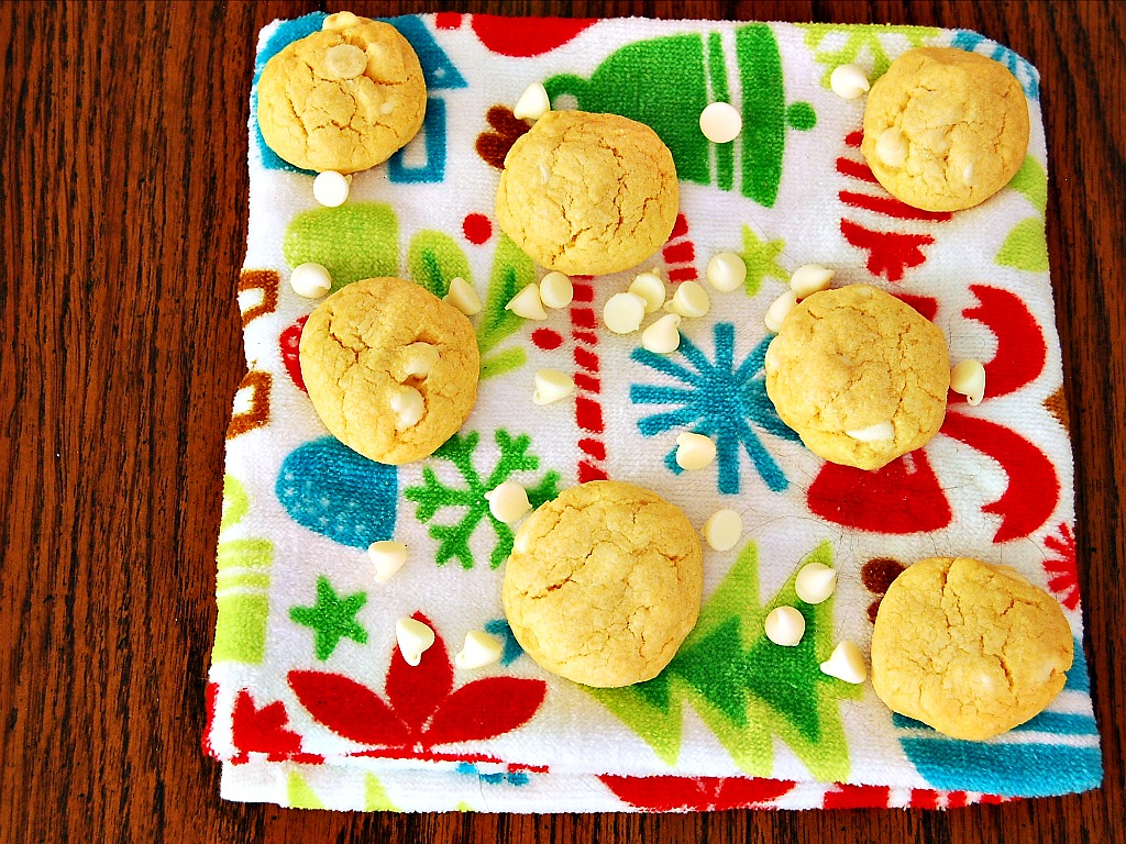 White Chocolate Custard Cookies