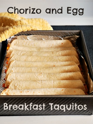 Chorizo and Egg Breakfast Taquitos