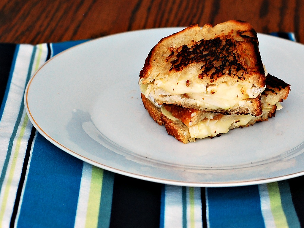Brie and Pear Grilled Cheese by The Redhead Baker