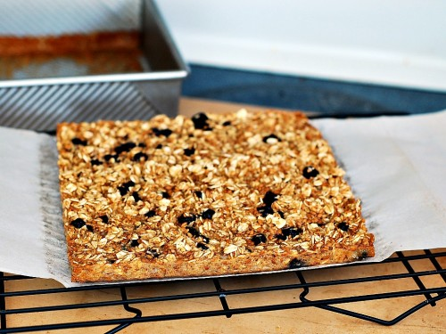 Baked Blueberry Oatmeal Squares by The Redhead Baker