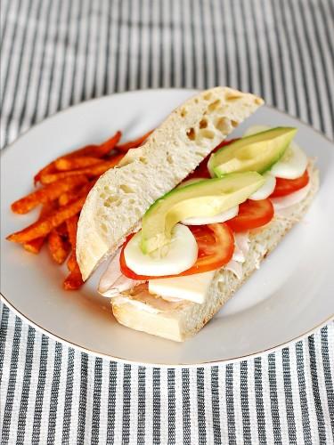 California-Style Turkey Ciabatta Sandwiches by The Redhead Baker