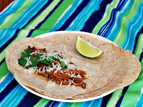 Chipotle Honey Lime Pulled Pork Tacos by The Redhead Baker