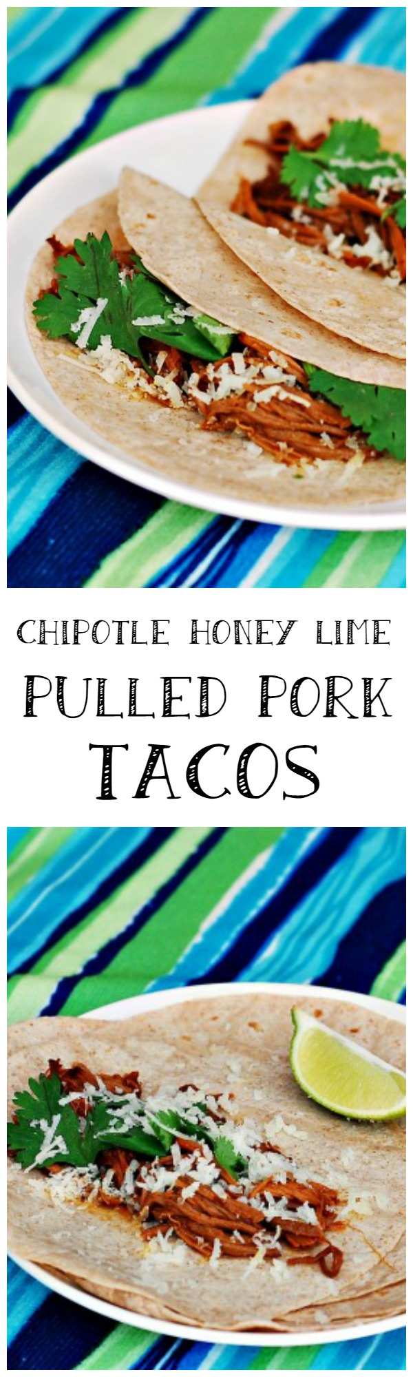 """Man Food"" is all about big bold flavors, and these chipotle honey lime pulled pork tacos deliver! Make them for the dad in your life this #FathersDay 