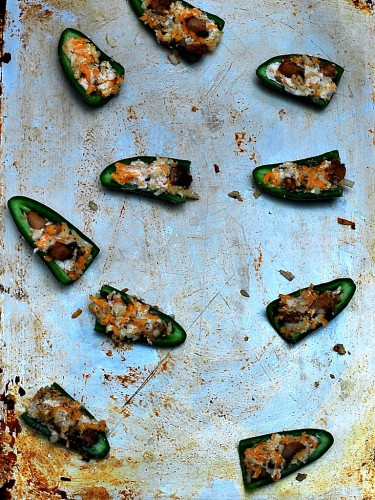 Chipotle Pork Belly-Stuffed Jalapeño Poppers by The Redhead Baker #SundaySupper
