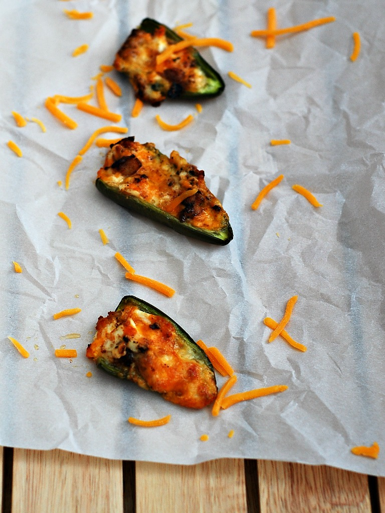 Chipotle Pork Belly-Stuffed Jalapeño Poppers #SundaySupper