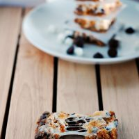 S'mores Crumb Bars #SundaySupper