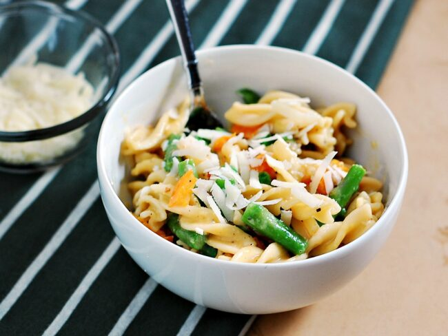 Spring Vegetable Carbonara by The Redhead Baker #healthy