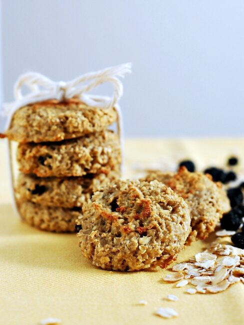 Apple Blueberry Oat Dog Biscuits by The Redhead Baker