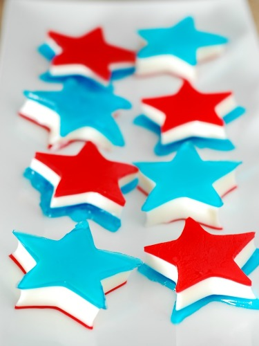 Red, White and Blue Layered Jell-O Stars by The Redhead Baker