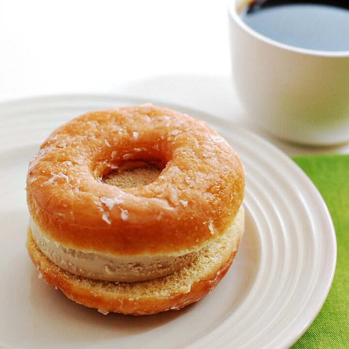 Coffee and Donuts Ice Cream Sandwiches