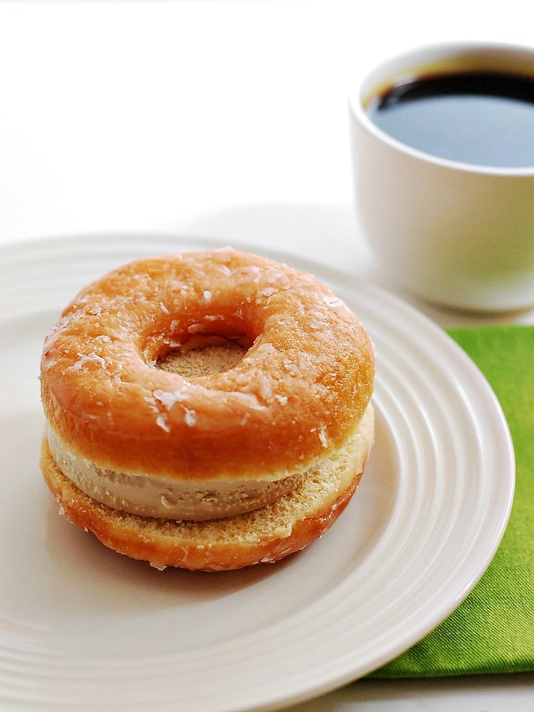 Coffee and Donuts Ice Cream Sandwiches #IceCreamWeek