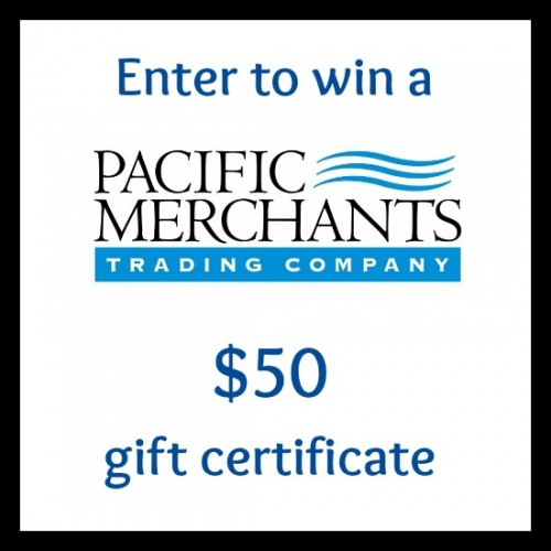 Pacific Merchants $50 gift certificate giveaway