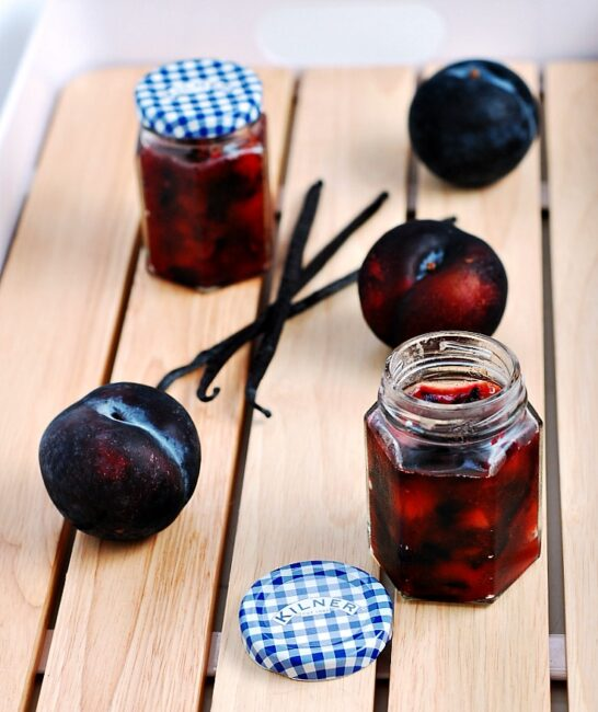 Small-Batch Vanilla-Plum Preserves by @TheRedheadBaker