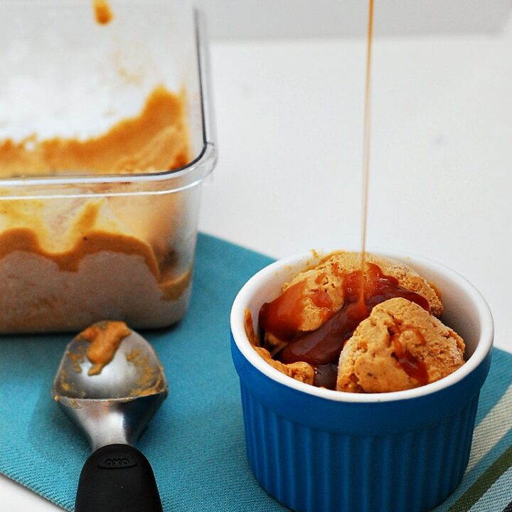 Pumpkin Gelato with Salted Caramel Swirl