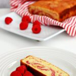 Raspberry Swirl Pound Cake for #Cookbooks&Calphalon