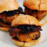 Bacon, Onion and Cheddar Sliders #SundaySupper