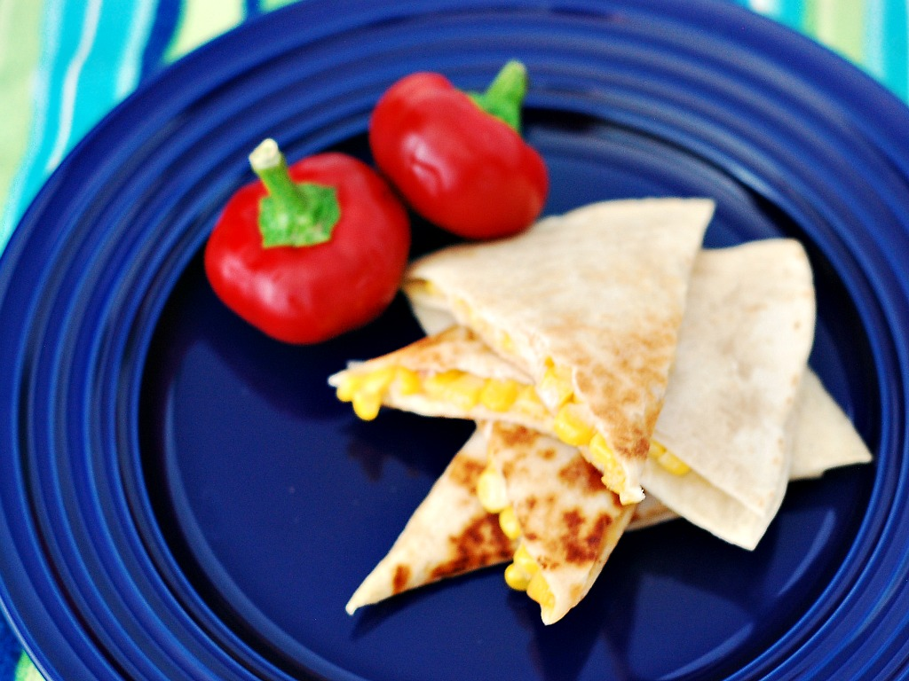 Corn and Cherry Pepper Quesadillas