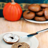 Pumpkin Bagels #SundaySupper