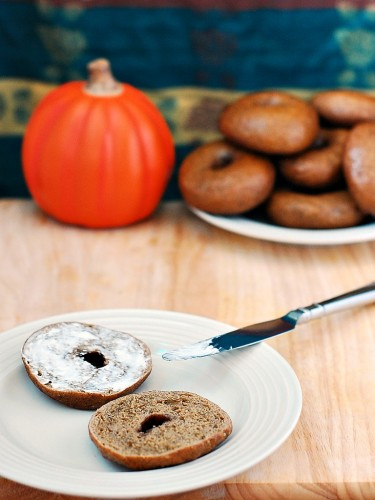 Pumpkin Bagels #SundaySupper by @TheRedheadBaker