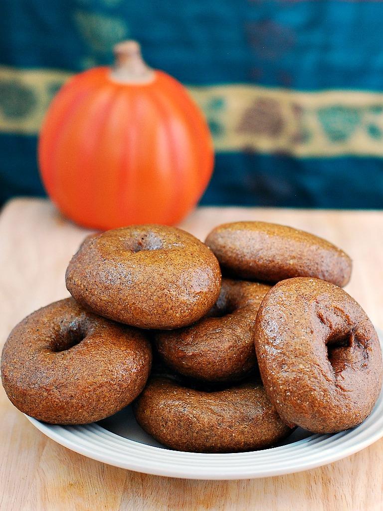 Pumpkin Bagels #SundaySupper